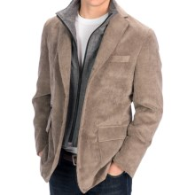 Riviera Boston Jacket - Micro Corduroy, Zip-Out Bib (For Men) in Beige - Closeouts
