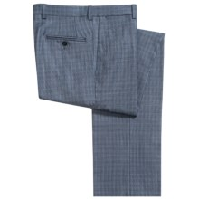 Riviera by Jack Victor Armando Mini Glen Check Dress Pants - Wool (For Men) in Blue - Closeouts