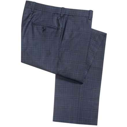 Riviera by Jack Victor Armando Plaid Dress Pants - Wool (For Men) in Blue - Closeouts