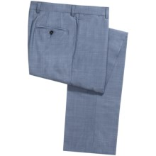 Riviera by Jack Victor Spencer Pindot Dress Pants - Wool (For Men) in Blue - Closeouts