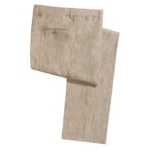 Riviera by Jack Victor Sting Burlap Dress Pants - Linen (For Men) in Natural - Closeouts