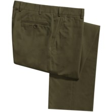 Riviera Calgary Stretch Cotton Pants (For Men) in Olive - Closeouts