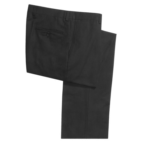 Riviera Chino Pants - Cotton-Linen (For Men) in Black