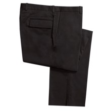 Riviera Cotton Twill Pants - Flat Front, Flap Pockets (For Men) in Black - Closeouts