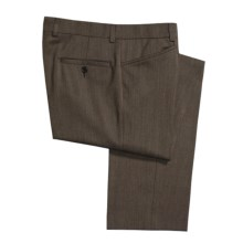 Riviera Covert Twill Dress Pants - Wool Blend, Flat Front (For Men) in Brown - Closeouts