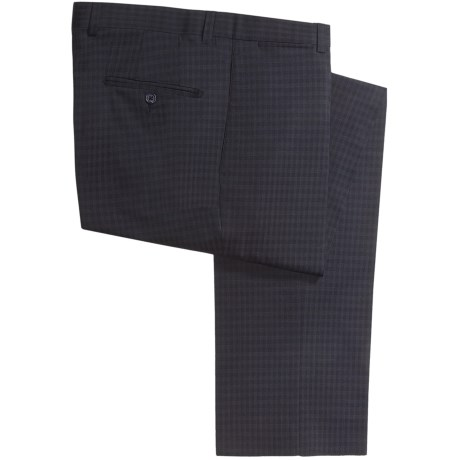 Riviera Harper Check Dress Pants - Wool Blend (For Men) in Navy Check