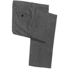 Riviera Harper Check Dress Pants - Wool-Linen (For Men) in Black/White - Closeouts