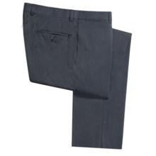 Riviera Harper Narrow Beaded Stripe Dress Pants - Flat Front (For Men) in Navy - Closeouts