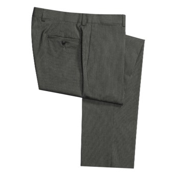 Riviera Harper Subtle Stripe Dress Pants - Flat Front (For Men) in Charcoal