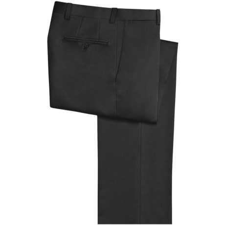 Riviera Harvey Dress Pants - Wool Gabardine, Flat Front (For Men) in Black