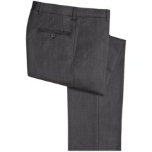 Riviera Harvey Dress Pants - Wool Gabardine, Flat Front (For Men) in Grey - Closeouts