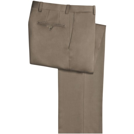 Riviera Harvey Dress Pants - Wool Gabardine, Flat Front (For Men) in Taupe