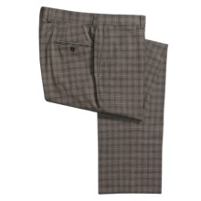 Riviera Harvey Plaid Dress Pants - Flat Front (For Men) in Brown - Closeouts