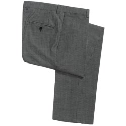 Riviera Holland Check Dress Pants - Wool-Linen (For Men) in Black/White