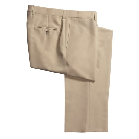 Riviera Micro-Twill Dress Pants - Flat Front (For Men) in Tan