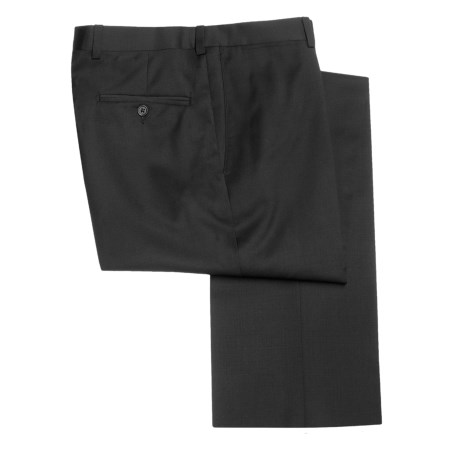 Riviera Nano Performance Dress Pants - Wool, Flat Front (For Men) in Black