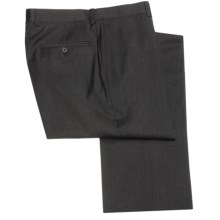Riviera Nano Performance Dress Pants - Wool, Flat Front (For Men) in Charcoal - Closeouts