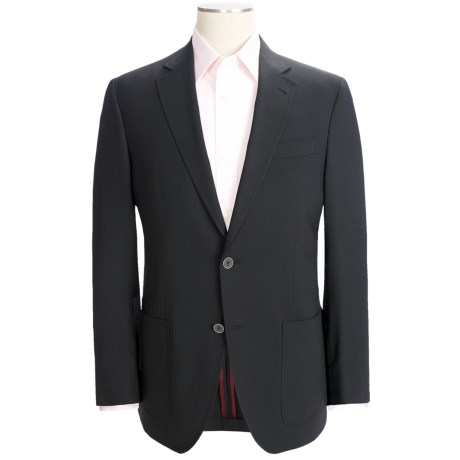 Riviera Panther Blazer - Modern Fit, Stretch Wool Blend (For Men) in Black