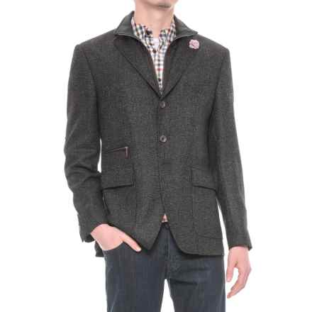Riviera Red Hybrid Jacket - Zip-Out Bib (For Men) in Black Boucle - Overstock