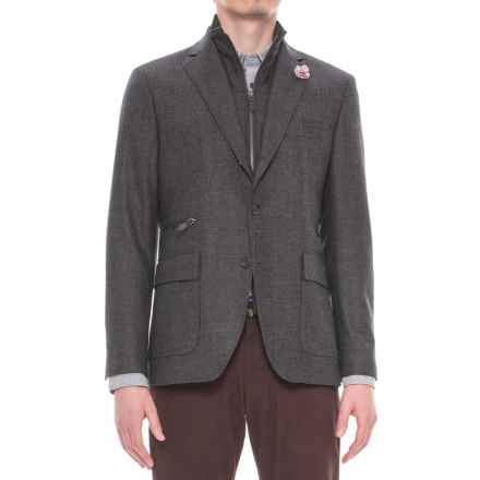 Riviera Red Hybrid Jacket - Zip-Out Bib (For Men) in Charcoal Birdseye - Overstock