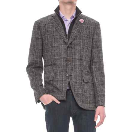 Riviera Red Hybrid Jacket - Zip-Out Bib (For Men) in Grey Plaid - Overstock