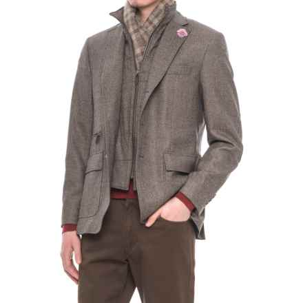 Riviera Red Hybrid Jacket - Zip-Out Bib (For Men) in Light Grey Birdseye - Overstock