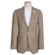 Riviera Red Nazareth Sharkskin Sport Coat - Linen-Wool-Silk (For Men) in Olive - Closeouts