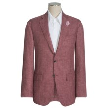 Riviera Red Nazareth Sharkskin Sport Coat - Linen-Wool-Silk (For Men) in Red - Closeouts