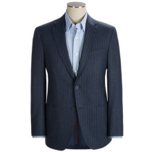 Riviera Red Panama Stripe Sport Coat - Wool Flannel, Modern Fit (For Men) in Blue - Closeouts