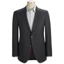 Riviera Red Panama Stripe Sport Coat - Wool Flannel, Modern Fit (For Men) in Charcoal - Closeouts