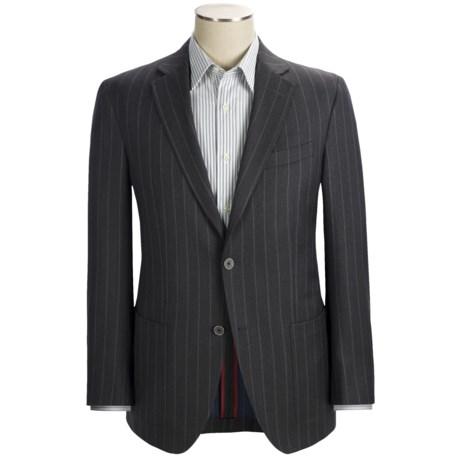 Riviera Red Panama Stripe Sport Coat - Wool Flannel, Modern Fit (For Men) in Charcoal