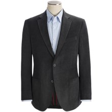 Riviera Red Panther Canvas Cord Sport Coat - Modern Fit (For Men) in Grey - Closeouts