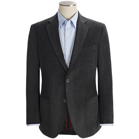 Riviera Red Panther Canvas Cord Sport Coat - Modern Fit (For Men) in Grey