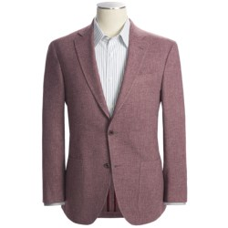 Riviera Red Panther Twill Sport Coat - Wool Blend, Modern Fit (For Men) in Wine