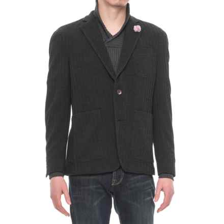 Riviera Red Unlined Jersey Blazer - Patch Pockets (For Men) in Black Herringbone - Overstock