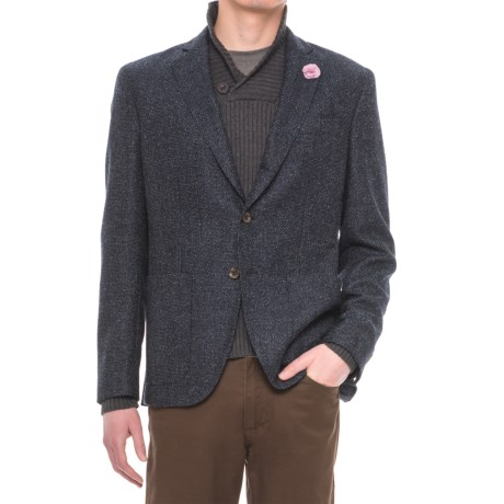 Riviera Red Unlined Sport Coat - Wool (For Men) in Blue Boucle