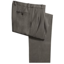 Riviera Simon Gabardine Dress Pants - Double Pleats (For Men) in Taupe - Closeouts