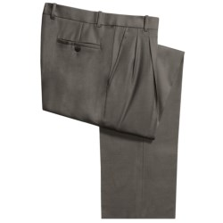 Riviera Simon Gabardine Dress Pants - Double Pleats (For Men) in Taupe