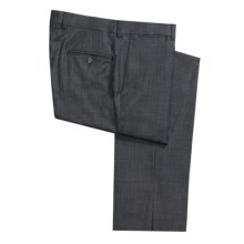 Riviera Spencer Check Dress Pants - Wool (For Men) in Charcoal/Blue - Closeouts