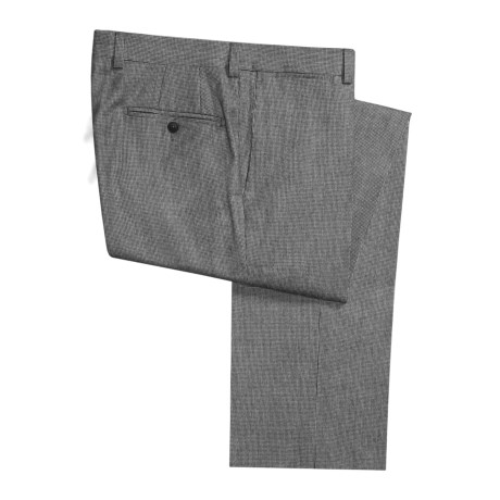 Riviera Spencer Houndstooth Dress Pants - Wool (For Men) in Black/White