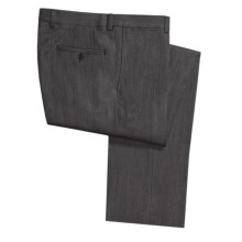 Riviera Sting Twill Dress Pants - Flat Front (For Men) in Charcoal - Closeouts