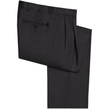 Riviera Victor Dress Pants - Wool, Pleated (For Men) in Black - Closeouts