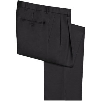 Riviera Victor Dress Pants - Wool, Pleated (For Men) in Black