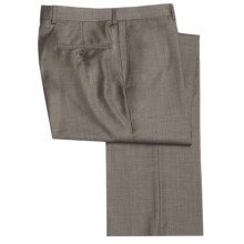 Riviera Wool Fancy Neat Dress Pants - Flat Front (For Men) in Brown - Closeouts