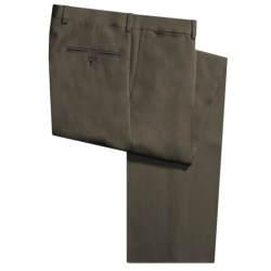 Riviera Wool Nano Flat Front Gabardine Pants (For Men) in Forest