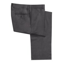 Riviera Worsted Wool Flannel Dress Pants - Flat Front (For Men) in Medium Grey - Closeouts