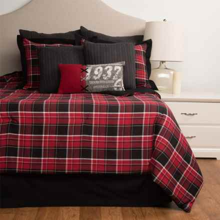 Rizzy Home Alaska Lodge Comforter Set - King, 10-Piece in Red Plaid - Closeouts