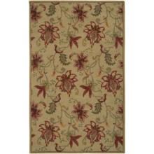 Rizzy Home Ashlyn Area Rug - 5x8', Hand-Tufted Wool in Gold - Closeouts