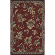 Rizzy Home Ashlyn Area Rug - 5x8', Hand-Tufted Wool in Red/Green - Closeouts