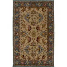 Rizzy Home Bentley Area Rug - 5x8', Hand-Tufted Wool in Beige/Blue - Closeouts